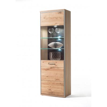 Blanca I assembled solid wood display cabinet