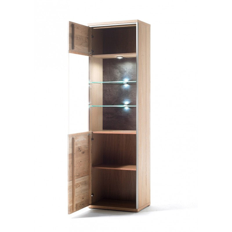 Blanca i solid wood display cabinet modern wood for Display home furniture