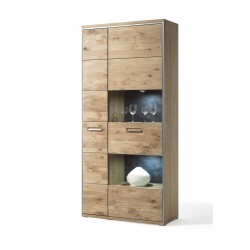 Blanca II assembled large solid wood display cabinet
