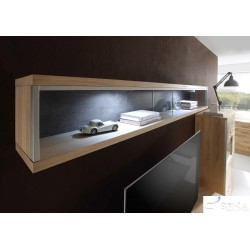 Blanca V -  solid wood and glass display hanging cabinet