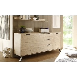 Parma- light oak 3 door sideboard