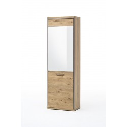 Blanca -  solid wood hallway wardrobe with mirror
