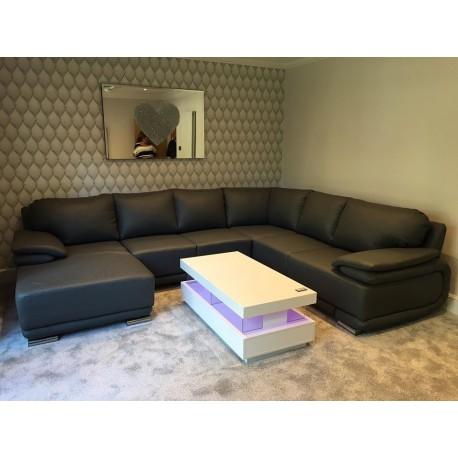 Davos VI-Modern Large U shape sofa Bed