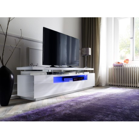Lina Large High Gloss Tv Unit With Led Lights Tv Stands 2438