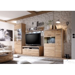Blanca I assembled solid wood wall unit