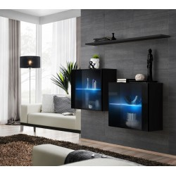 Switch II - square modular wall unit with LED lights