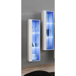 Switch I - modular wall display cabinet with LED lights