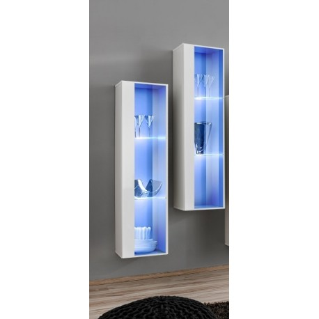 Switch I   Modular Wall Display Cabinet With LED Lights