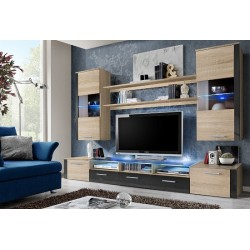 Prim wall set - santana oak & grey