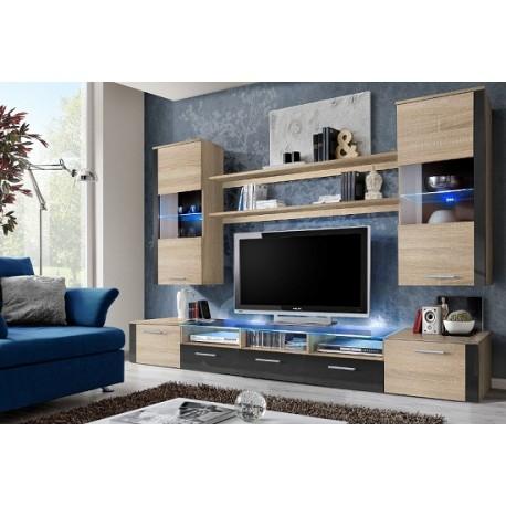 Prim wall set - santana oak & grey