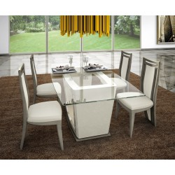 Nina II - glass bespoke dinning table