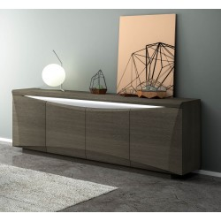 Hit - luxury bespoke sideboard with 4 doors and LED lights