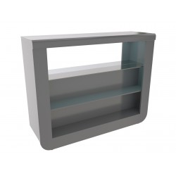 Modo II contemporary grey gloss drinks cabinet stock clearance