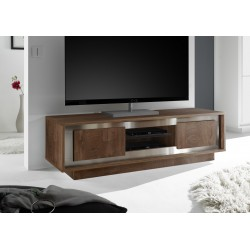 Amber - modern TV unit in oak cognac finish