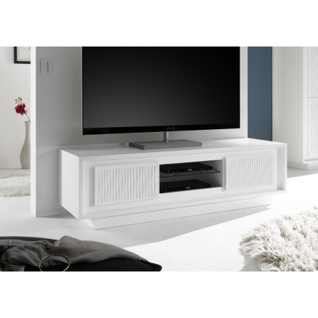 Amber II - modern TV unit with gloss fronts