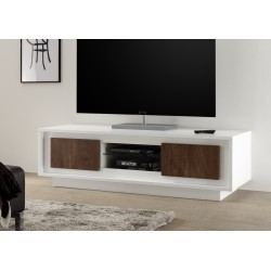 modern tv stand white. amber iii modern tv stand in white and oak. tv