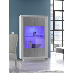 Amber IV - 4 door modern display cabinet with lights