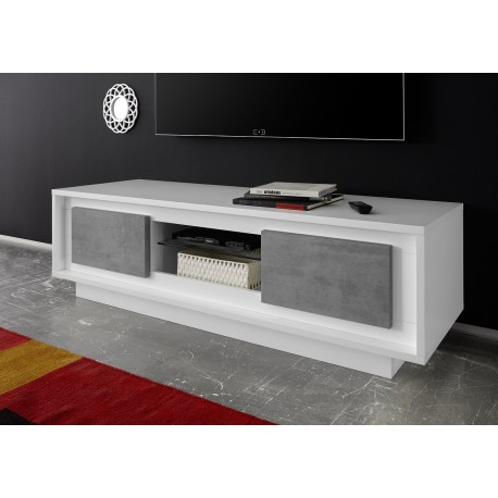 Amber IV - modern TV unit with stone imitation fronts