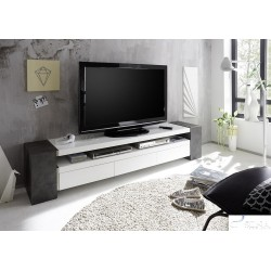 Jule II - lacquer TV stand with concrete imitation legs