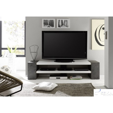 Jane II - lacquer TV stand with concrete imitation legs