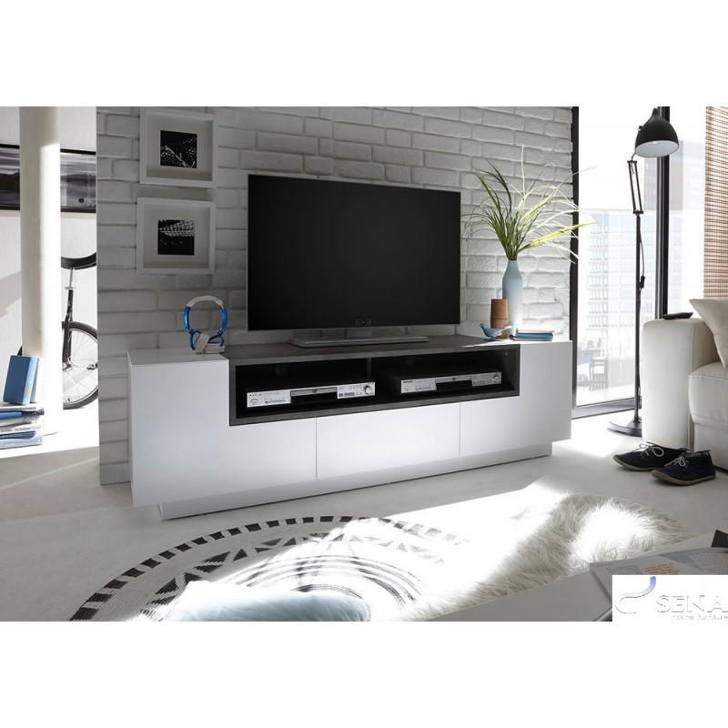 Jogo Lacquer Tv Stand With Concrete Imitation Tv