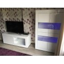 Dolcevita white and grey Gloss TV Stand