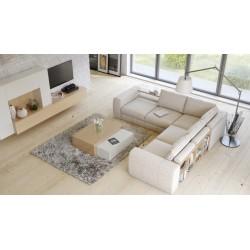 Biblio - L shape modular sofa with decorative bookshelves