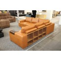 Biblio - L shape modular sofa with decorative bookshelves