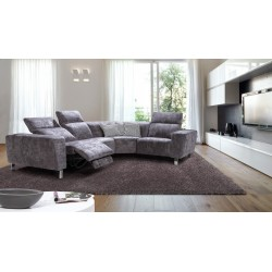 Livio - L shape modular sofa with electric recliners seats