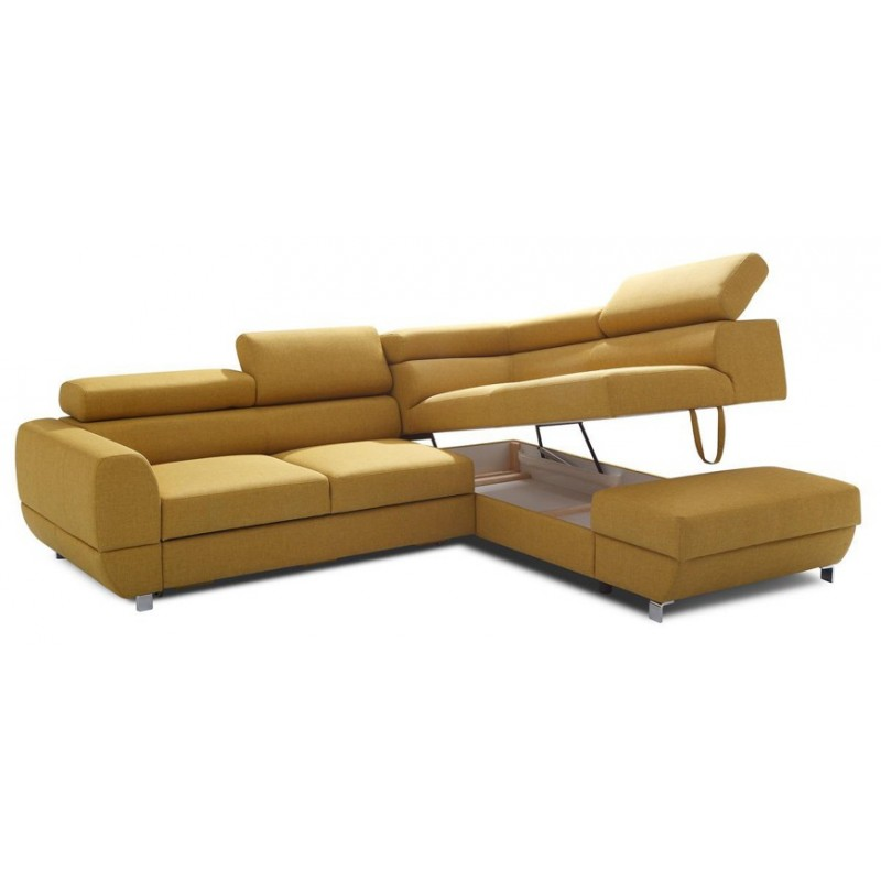 Emporio l shaped modular sofa bed sofas sena home for Modular furniture bed