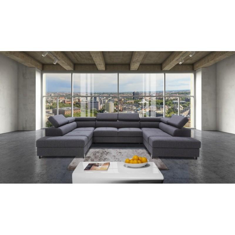 Enzo u shaped modular sofa sofas 2588 sena home for Modular sectional sofa with recliner