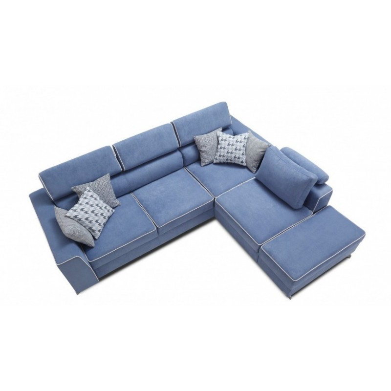 Largo l shaped sofa bed sofas 2590 sena home furniture for L shaped sofa bed couch sa