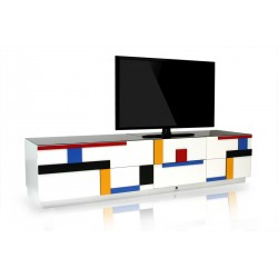 Blues - bespoke TV Unit series in various colours and sizes with 3D lacquered fronts