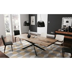 Ikon  - solid wood dining table in various sizes and wood finishes