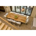 Trebord III bespoke solid wood dining table in various sizes and wood finishes