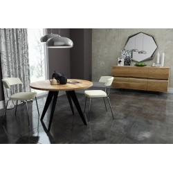 Enyo round - solid wood dining table in various sizes and wood finishes