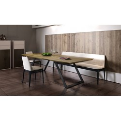 Enyo extendable - solid wood dining table in various sizes and wood finishes