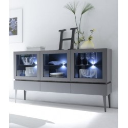Livia IV - matt lacquered display sideboard with drawers