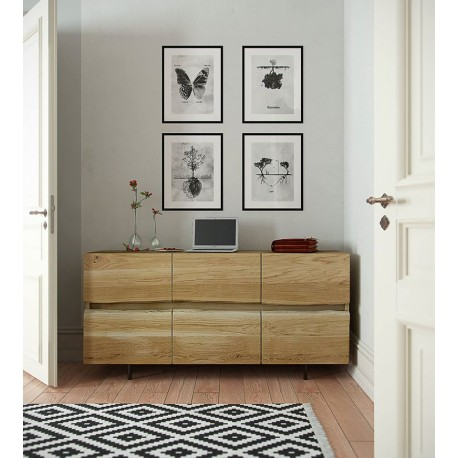 Trevor Solid Wood Sideboard In Various Sizes And Wood Finishes Modern Wood Collections 2648 Sena Home Furniture