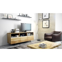 Trevor - solid wood TV unit in various sizes and wood finishes