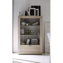RusticaII-sonoma oak display cabinet