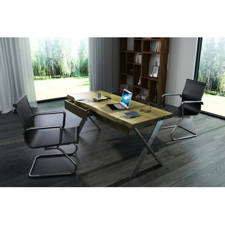 Trevor - solid wood office desk various sizes and wood finishes