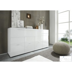 Line II - white high gloss chest of drawer