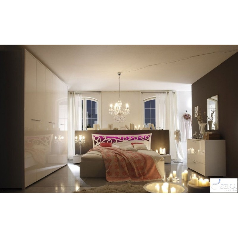 Lacquer Bedroom Furniture: Ambrosia Modern Lacquered Bedroom Set