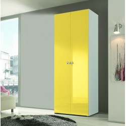 Multi 2 Door lacquered gloss wardrobe