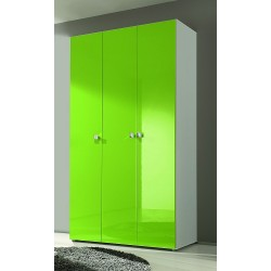 Multi 3 Door lacquered gloss wardrobe