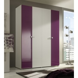 Multi 4 door lacquered gloss wardrobe