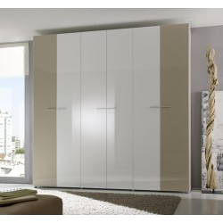 Multi 6 Door lacquered gloss wardrobe