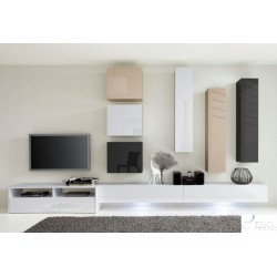 BOX II - modular gloss wall unit