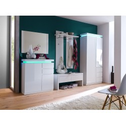 Avanti X - gloss hallway wardrobe with LED lights